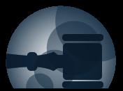 Icono de una maza de juez